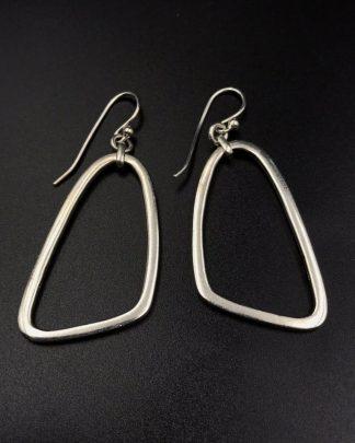 Silpada Sterling Silver Geometric Triangle Dangle Earrings W1112 Retired
