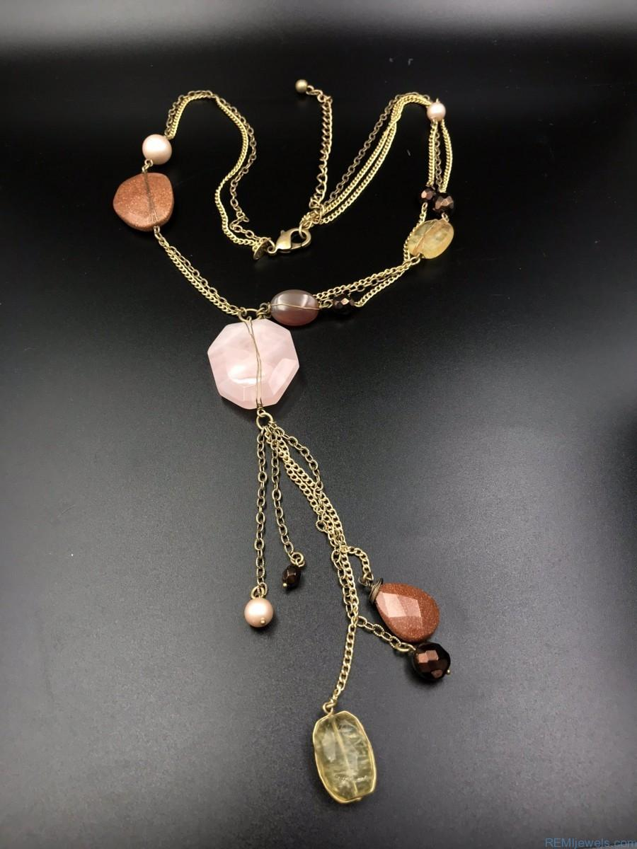 Chico S Long Dangle Necklace Remijewels Estate Jewelry