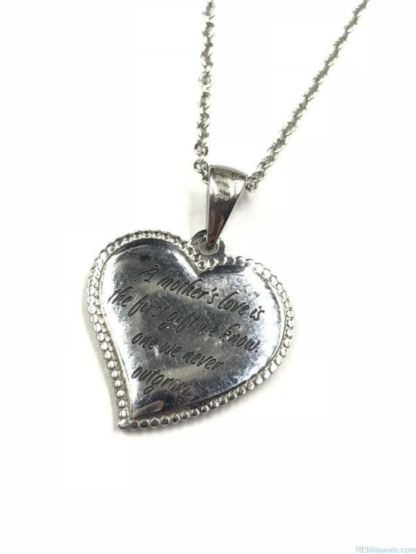 Best Friend Mother Love Heart Necklace Stainless Steel