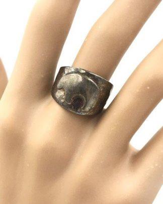 Desert Rose Trading Sterling Silver Ring Wanderer Medicine Bear Fetish for sale