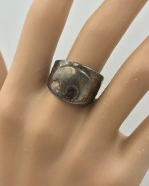 Desert Rose Trading Sterling Silver Ring Wanderer Medicine Bear Fetish 925 Size 6.5 – Jay King ?