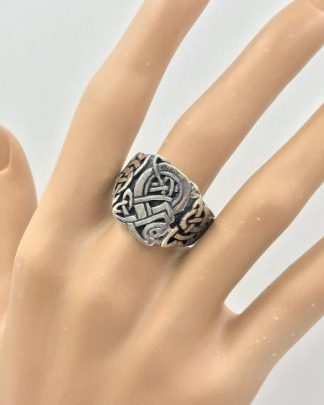 Vintage Celtic Silver Ring for sale