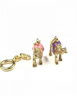 Joan Rivers Gold Plated Camel Charms Noah's Ark Enamel Crystal