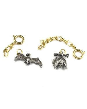 Joan Rivers Noah's Ark Bat Pair Charm Silver Tone Pendant Classic Collection with Extender Chain