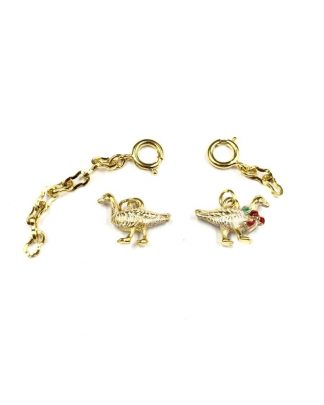 Rare Joan Rivers Gold Tone Enamel Geese Noah's Ark Charms
