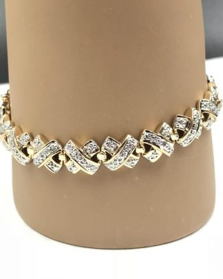 Ross-Simons Gold Plated Sterling Silver 925 Bracelet 7""