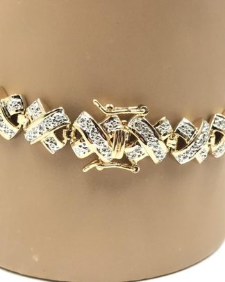 Ross Simons Gold Plated Sterling Silver 925 Bracelet 7""