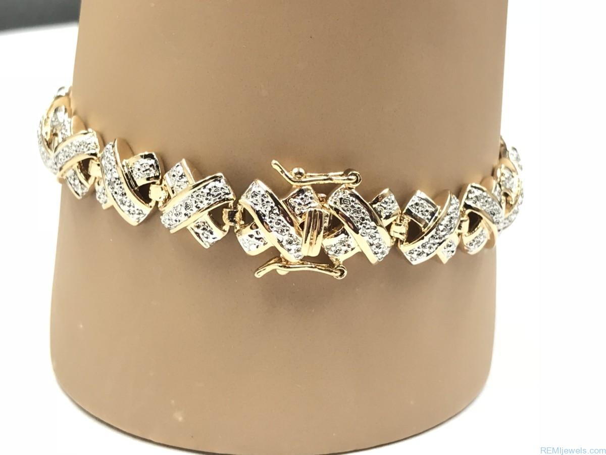 Gold Plated Sterling Bracelet Remijewels Vintage Estate