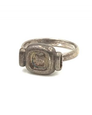 Vintage Wrapped Candy Headphones Old TV Ring Sterling Silver Size 5.5 Signed 925