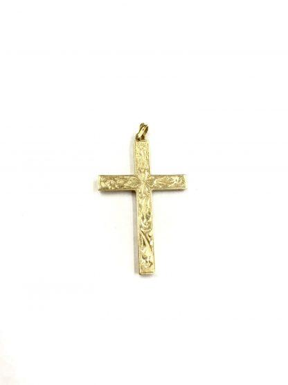Vintage 14k Yellow Gold ESEMCO Religious Cross Pendant