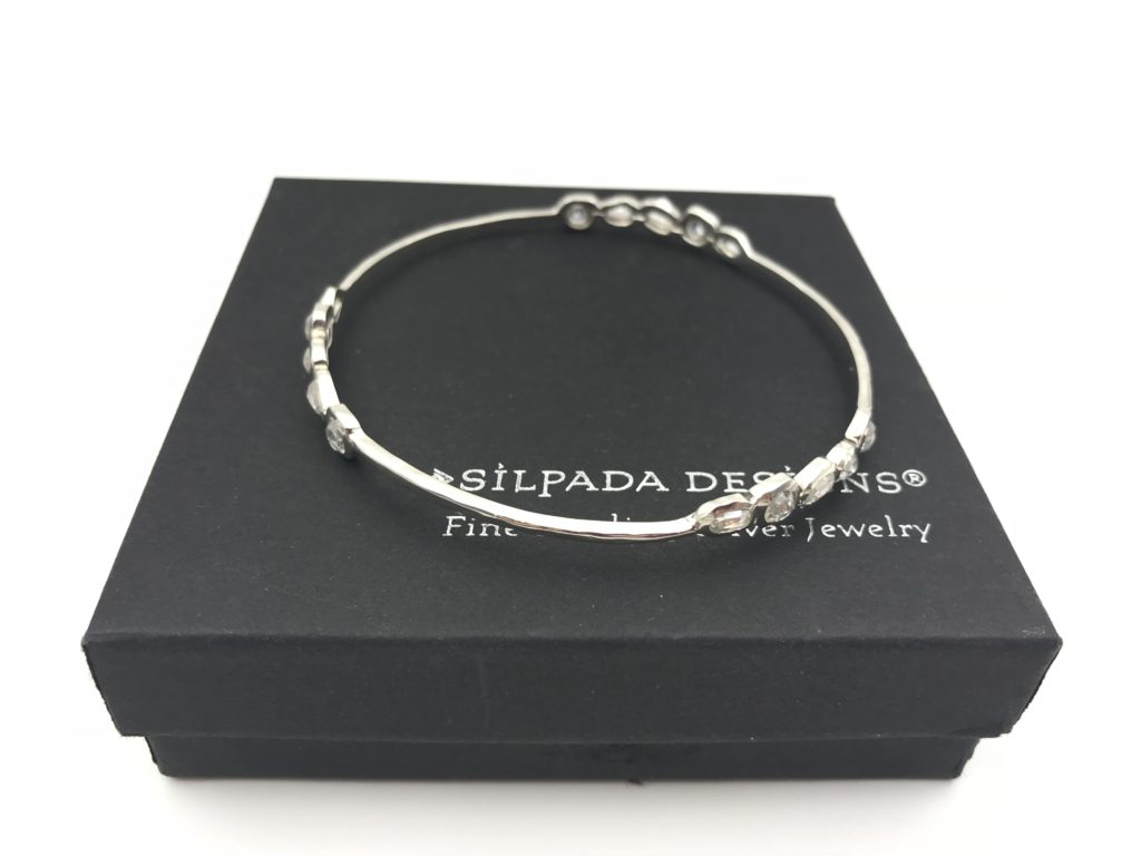 Silpada Cubic Zirconia Sterling Silver Magnifique Bangle