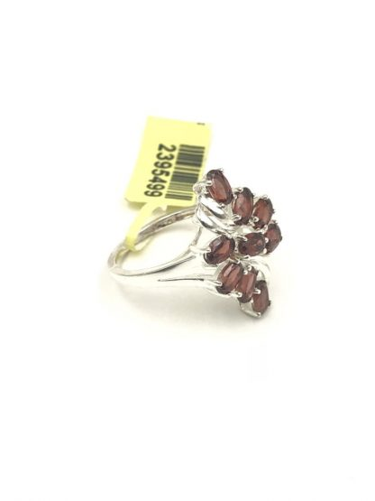 Oval Garnet Gemstone Sterling Silver Ring Size 7 Signed STS 925