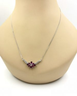 Diamond Amethyst Purple Jewelry Sterling Silver V Chevron Necklace