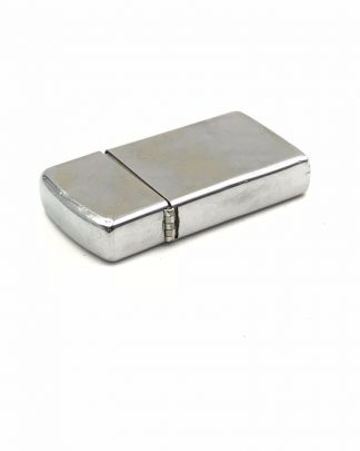 Vintage Zippo Slim Lighter Silver Tone High Polish Diagonal Original Box Manual