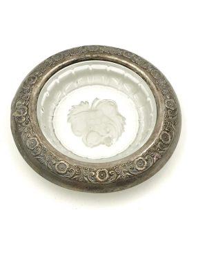 Antique International Sterling Crystal Coaster Sterling Rim Prelude (Sterling Hollowware) SILVER NA12