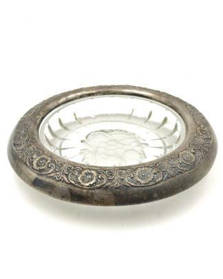 Antique International Sterling Crystal Coaster Sterling Rim Prelude (Sterling Hollowware)