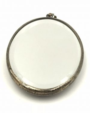 Rare Reed Barton Sterling Floral Oval Mirror Pendant Decoration Christmas Ornament Collectible Gift