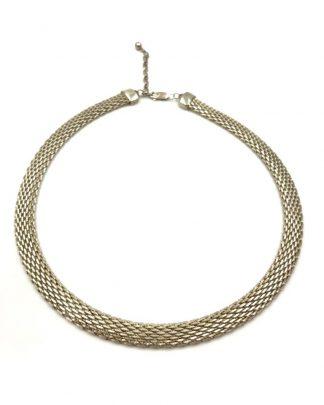 Godfrey Carter Designer Sterling Silver Mesh Choker Necklace GC 925