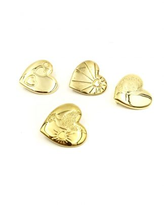 Variety Club Gold Tone Brooch Badges Heart Baby Face Child Dove
