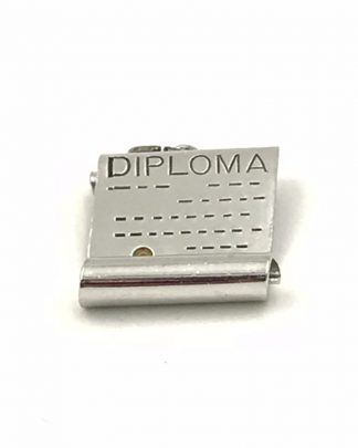 Graduation Rolled Diploma Sterling Silver Vintage Charm Enamel Signed Sterling W