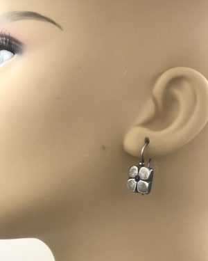 Rare Silpada 925 Didae Sterling Silver Flower Earrings Lapis Stone W0511 Retired
