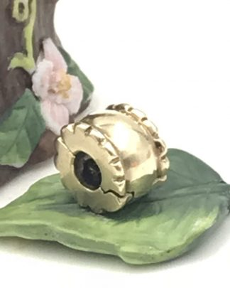 585 Genuine Pandora 14K Solid Gold Whisper Clip Charm 750256
