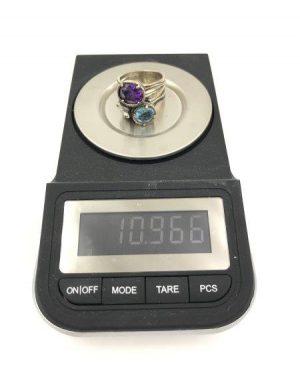 Vintage SHABLOOL ISRAEL Didae Three Stone Wide Sterling Silver 925 Ring Sz. 7 3/4-8