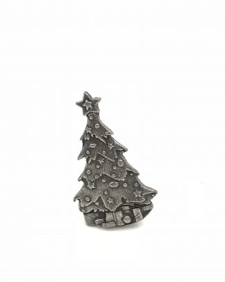 Pewter Christmas Tree Pin Brooch 3D Raised Motif Limited Edition 1999 Quick Cooking