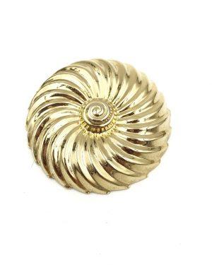 Vintage JERI-LOU Signed Gold Tone Scarf Clip Embossed Swirl Pattern