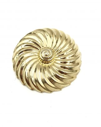 Vintage JERI-LOU Signed Gold Tone Scarf Clip Embossed Swirl Pattern