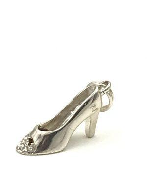 Cellini Sterling Silver Ladies Charm Stiletto High Heel Shoe 925 Original Card