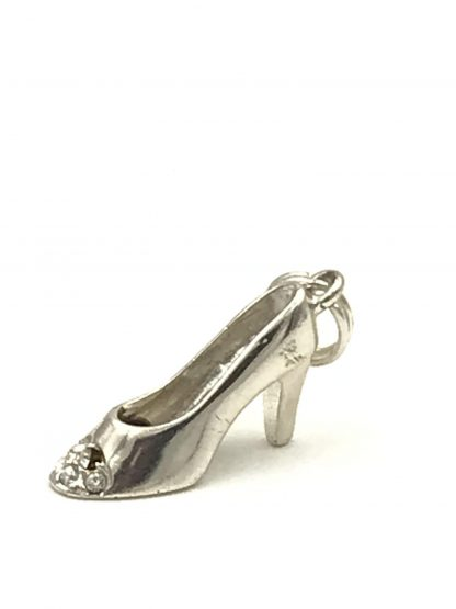 Cellini Sterling Silver Ladies Charm Stiletto High Heel Shoe 925 Original Card