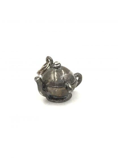 Vintage Jezlaine Sterling Silver 3D Teapot Charm Mechanical Parts 925 Signed Jez