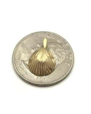 Michael Anthony 14K Seashell Pendant Scallop Beach Ocean Charm 3D Yellow Gold Signed 14K MA