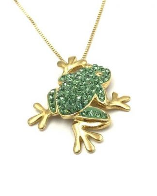 Sterling Frog Pendant Necklace