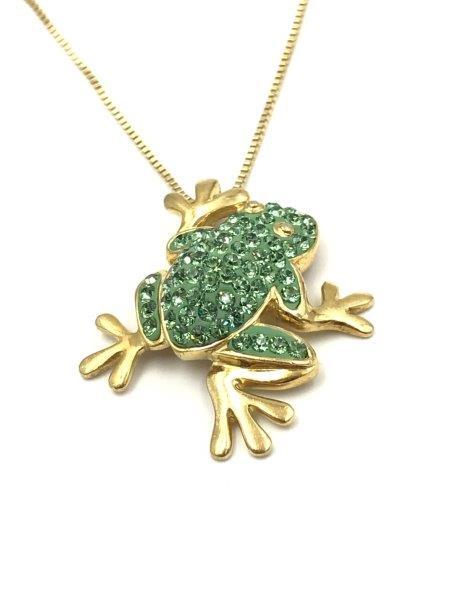 Sterling Frog Pendant Necklace