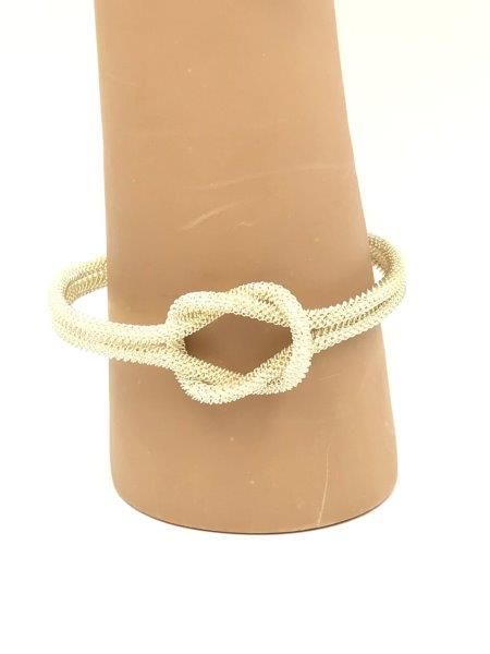 Silver Knot Mesh Bracelet