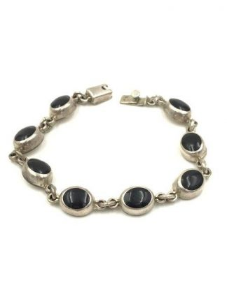 sterling silver onyx bracelet for sale