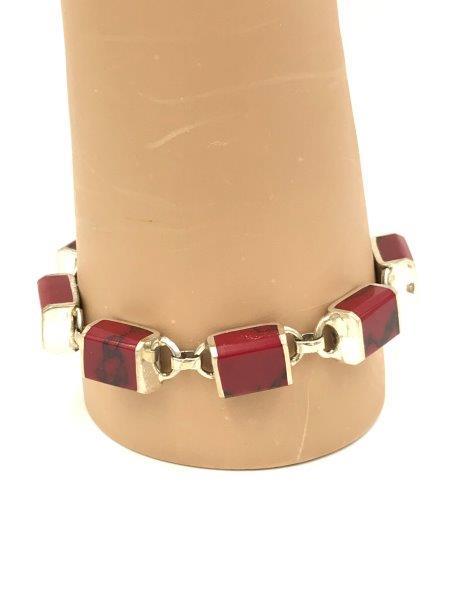 Jewelry for sale Red Jasper Sterling Silver Bracelet 925