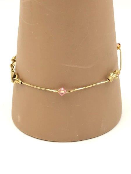 14k yellow gold beaded bracelet for sale