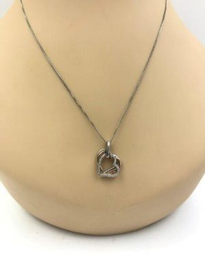 Kay Jewelers Jane Seymour Sterling Silver Diamond Triple Heart Pendant Necklace