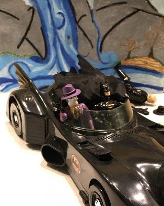 Vintage 1989 Toy Biz Batmobile The Joker Bob Riddler Batman Car