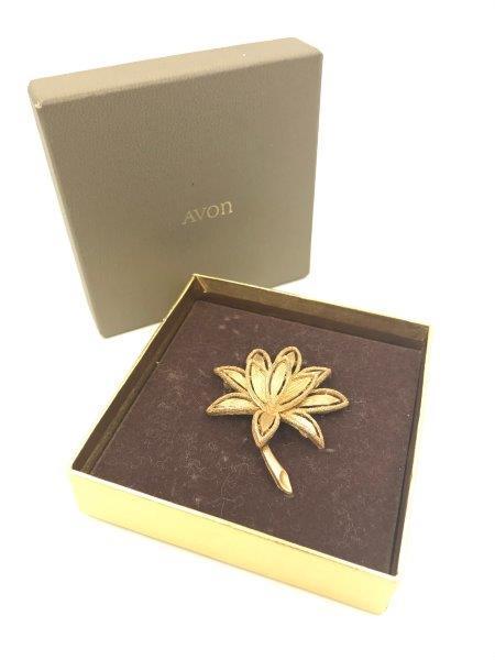 avon lotus flower brooch for sale