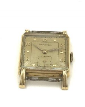Hamilton Watch Company 14K Gold Filled 747 Manual 17 Jewels Untested Wrist Watch Wind Parts Repair Restoration