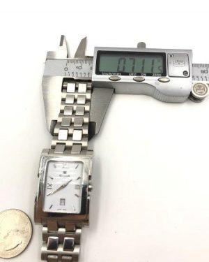 Cyma Le Locle Switzerland Silver Tone Men's Watch SWISS MADE Untested for Parts or Repair