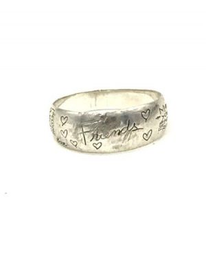 Sterling Silver Eternal Friend BFF Words Family Band Ring Size 9 LA 925