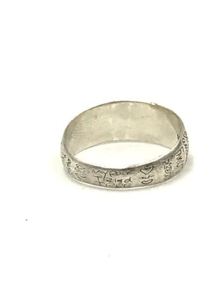 sterling silver bff friends ring for sale