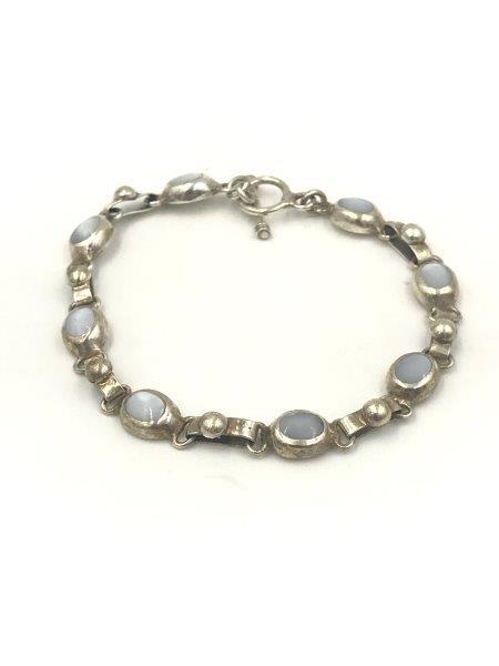Sterling Silver Vintage Mexico Link Bracelet for sale