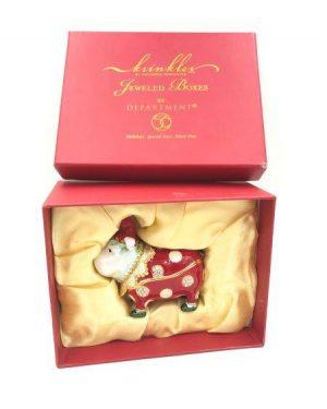 Dept 56 Krinkles Bulldog Bejeweled Trinket Box Jeweled Dog Department 56