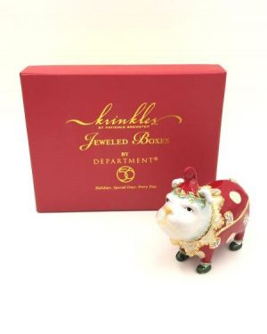 Krinkles Bulldog Bejeweled Box for sale